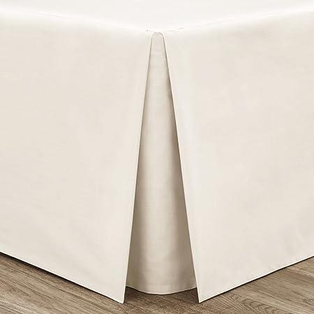 Catherine Lansfield Valance - Faldón para Cama (265 x 275 cm, percal, no Necesita Planchado), Color Blanco