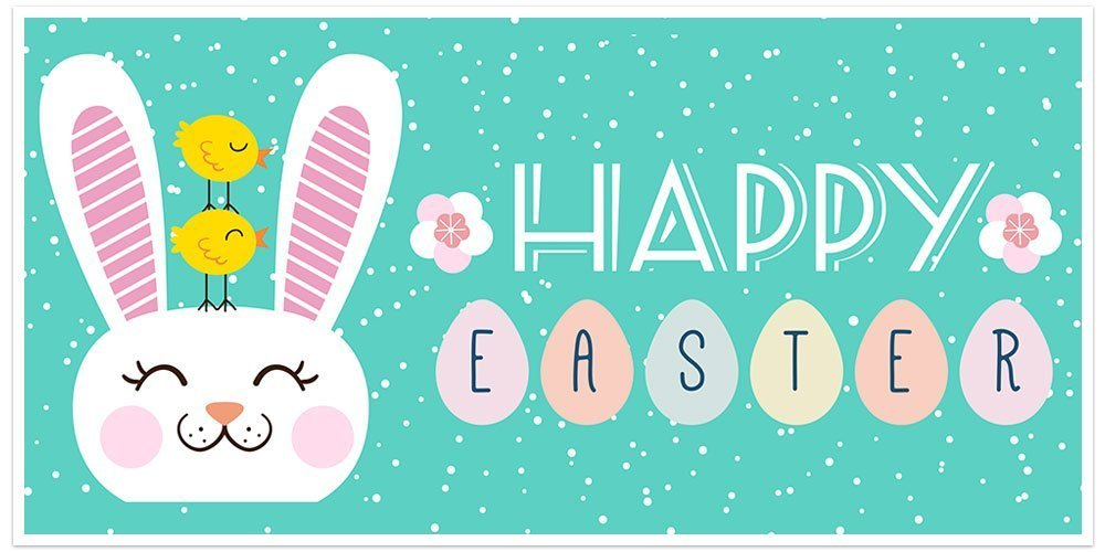 Easter Ranking TOP3 Banner Decoration In a popularity Backdrop
