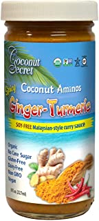 Coconut Secret Soy-Free Spicy Ginger-Turmeric Curry Sauce - Coconut Aminos, Organic, Gluten-Free, Non-GMO, No Cane Sugar, ...