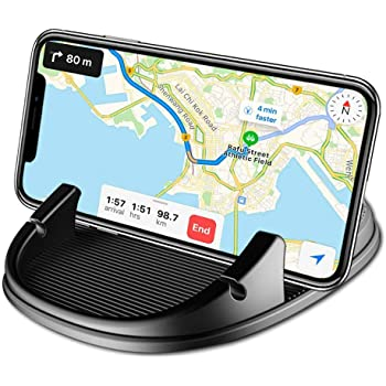 Phone Holder for Car, Freal Car Mount Holder Non-Slip Silicone Pad Dash Mat,Dashboard GPS Cradles Bracket for iPhone 5/6/7/8 Plus Samsung Google Nexus and More