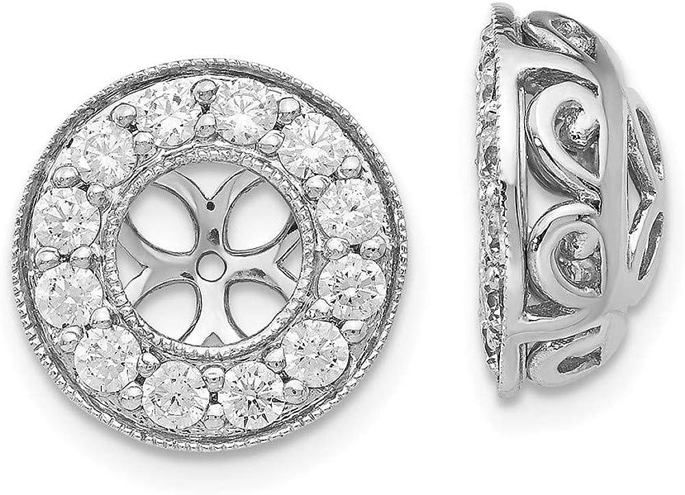 14kt White Gold True Origin Lab Grown 0.96ct Diamond Earring Jackets, VS/SI, D E F