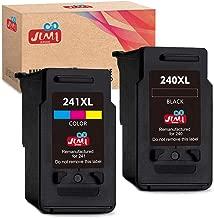 JIMIGO Remanufactured Ink Cartridge Replacement for Canon PG-240XL CL-241XL PG-240 CL-241 240XL 241XL for Pixma MG3620 MG3220 MG3520 MG2220 MG2120 MG3120 MX472 MX452 MX532 MX432 (1 Black,1 Tri-Color)