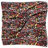 Uridy Pañuelo de raso cuadrado Bombero de fuego Seda como bandanas ligeras Pañuelo para la cabeza Chal para el cuello Pañuelo para la cabeza