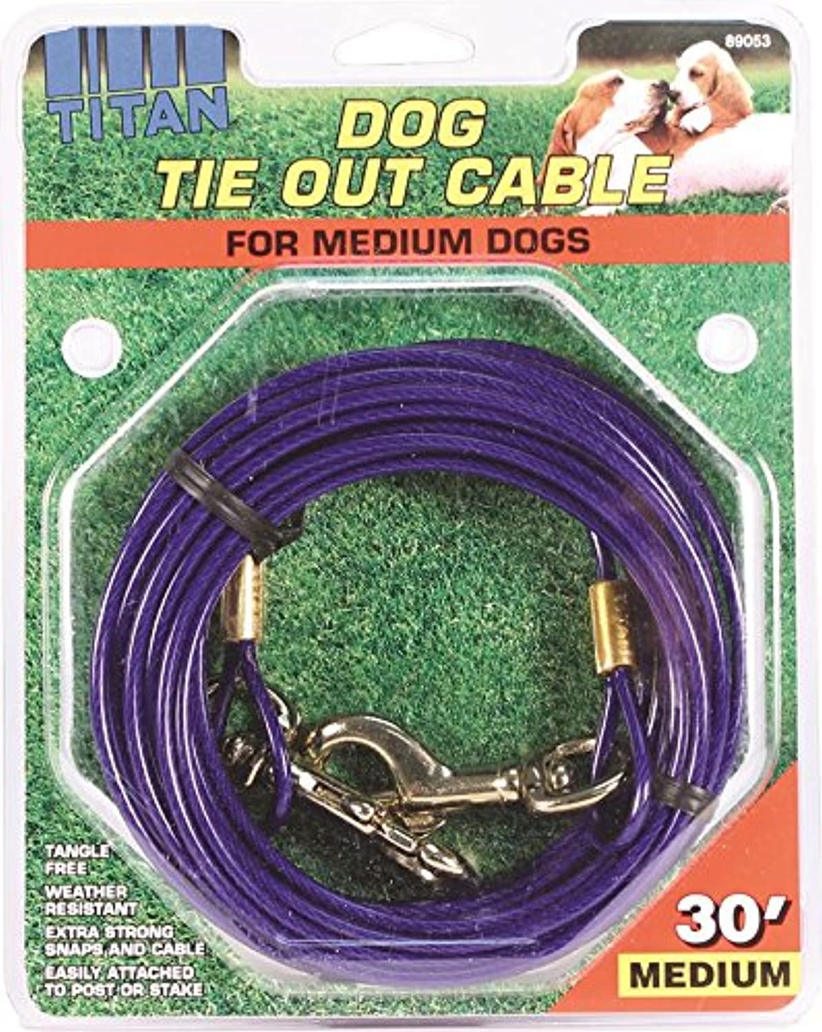 Coastal Pet Products DCP89053 Titan Dog Medium Tie Out Cable, 30Feet