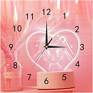 SHOP-DIY Square Wall Clock, Quality Quartz Operated for Home # Lovely and Beautiful Girl