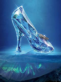DIY 5D Diamond Painting Kits for Adults Full Drill Cinderella's Glass Slipper Crystal Rhinestone Art Craft for Home Wall Decor Special Gift (Round Diamond 15.8x11.8in)