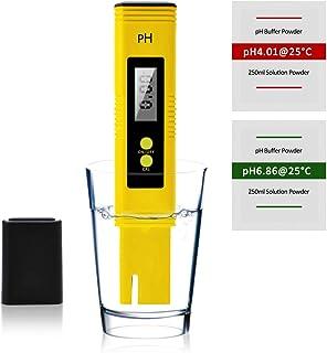 KETIEE Digital Ph Pen Water Quality Test Meter,PH Meter Tester Kit, 0.01 Resolution with 2 Standard PH Buffer Powders for ...