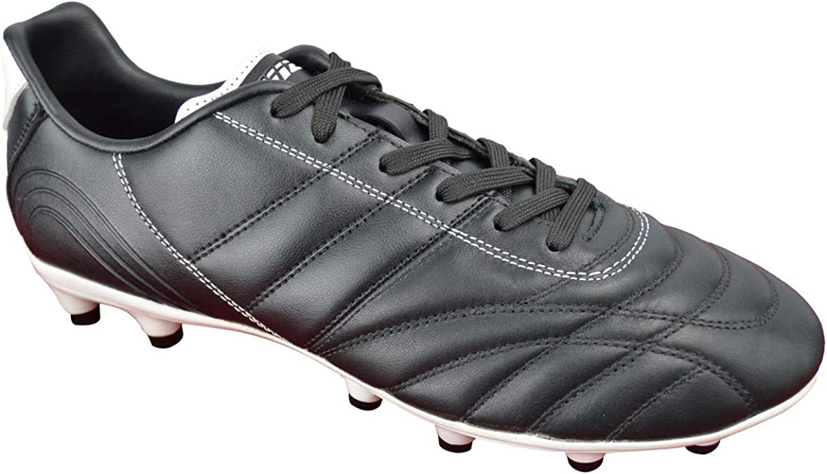 Vizari Mens Classico FG Leather Soccer Shoes//Cleats for Firm//Hard Ground Playing Surfaces