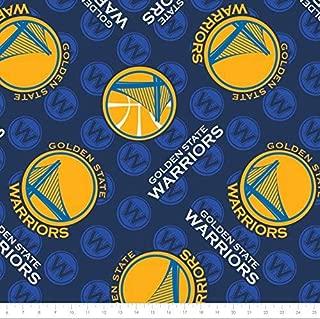 Fleece NBA Golden State Warriors Basketball Sports Team Fleece Fabric Print by the yard