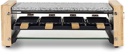 H.Koenig WOD12 Appareil à raclette Multifonction 8 personnes, Professionnel, 1200W, Raclette fromage, Fondue, Pierre Grani...