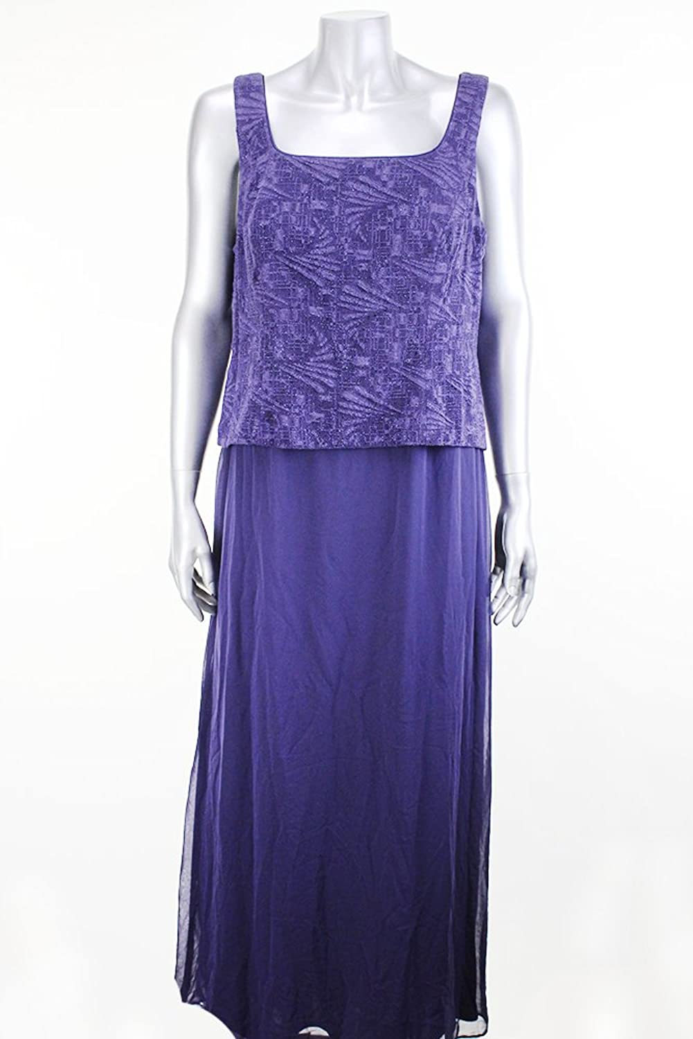 Alex Evenings Petite Purple Sleeveless Gown Msrp