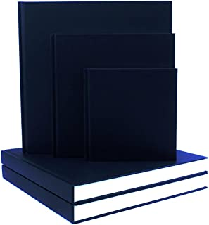 SEAWHITE Black Cloth Hardback Artists Sketchbook 140gsm Square 250x250