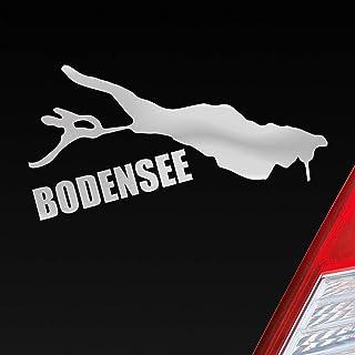 Auto Aufkleber in deiner Wunschfarbe Bodensee See Deutschland Urlaub 10x6 cm Autoaufkleber Sticker Folie