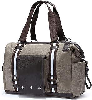 KEHUITONG Men's Leather Briefcase - Fashion Diagonal Canvas Bag, Men's Crossbody Retro Travel Bag, Large Capacity Lightweight Shoulder Bag Toothbrush, comfortable electric toothbrush, easy