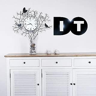 WOCACHI Wall Stickers Decals 3D Modern Mirror Vinyl DO IT Inspirational Metal Wall Sticker Decal Home Decor Art Mural Wallpaper Peel & Stick Removable Room Decoration Nursery Decor
