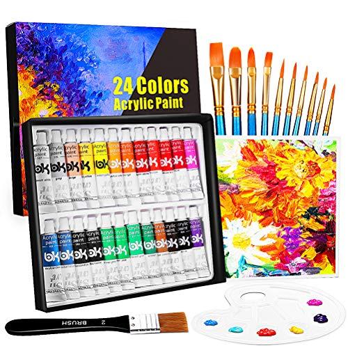 Set de 24 Tubos de Pinturas Acrilicas, Buluri 24 Colores x 1