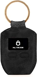 Londo Genuine Leather Case with Keyring for Trezor One Bitcoin Wallet Unisex (Black)