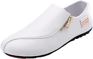 DADAWEN Homme Fermeture Eclairé Sneaker
