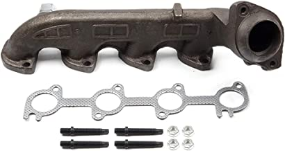 SCITOO Auto Replacement Exhaust Manifold Kits, Driver Left Exhaust Manifold Set Stainless Steel for Ford E-150 E-250 F-250 F-350 5.4L 2000-2013
