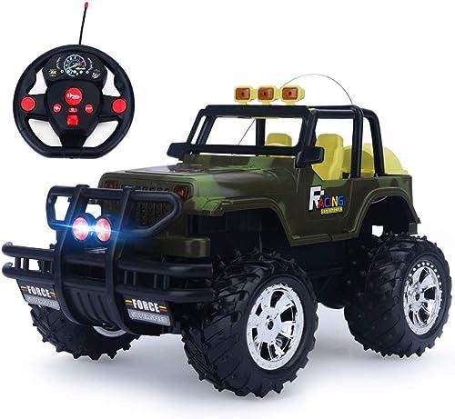 PETRLOY Remote Trucks Monster RC Auto 1  14 Ofüroad fürzeug 2.4 GHz Radio 4WD High Speed  acing All Terrain Klettern Geschenk für Jungen Elektro-LKW mit Akku Erwachsene Kinder 4WD Auto