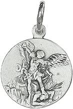 Medalla colgante plata ley 925m San Miguel 18mm. [AB3480]