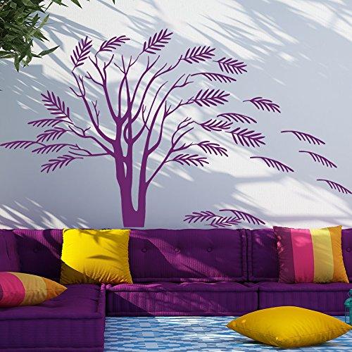 Vinyl Wandtattoo Baum Akazie Herbst Pflanze Natur Wandaufkleber Wandsticker Wanddekoration Fototapete Dekoration für Kinderzimmer Badzimmer Schlafzimmer Wohnzimmer M105