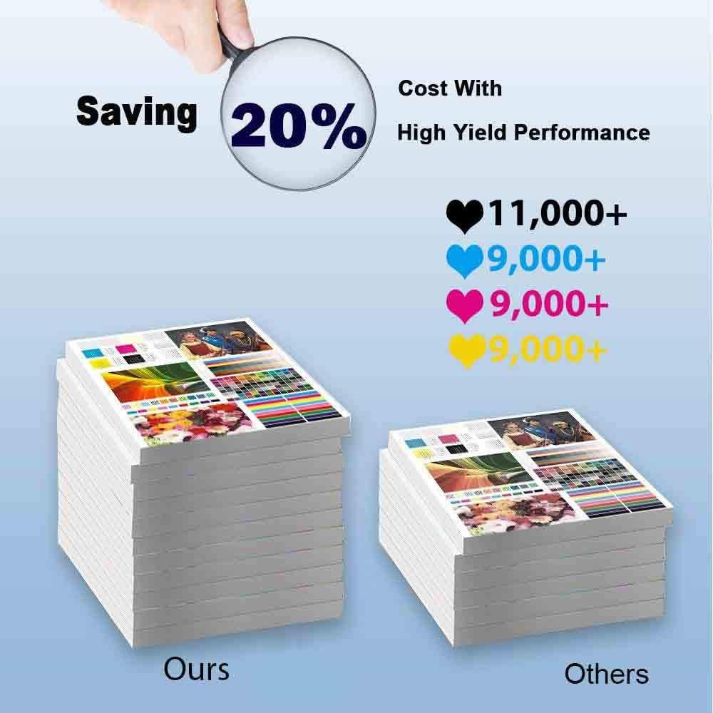 1-Pack (Magenta) Compatible C3760n, C3765 Printer Toner Cartridge High Capacity Replacement for Dell 331-8431 Toner Cartridge