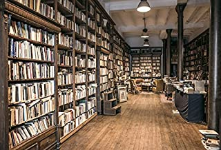 OFILA Second-Hand Bookshop Backdrop 7x5ft Old Bookshelf Literature Wisdom Study Room Learn Knowledge Education University Library Radio Show Background Writer Science Academic Event Shoots Props