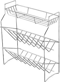 多機能キッチンラック 調味料ラック キッチンストレージ 調味料スタンド 調味料入れ収納 3段 ステンレス スパイスラック シンクサイドラック キッチン収納 調味料収納 お風呂 浴室 台所 大容量 おしゃれ