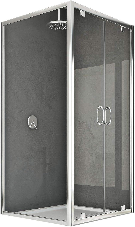 Sintesi Duo 2 Türen Duschkabine 120x90 F. 120 CM H185 Klarglas