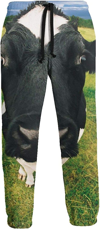 Jiulong 1 year warranty Cow Las Vegas Mall My Husband Mens Jogger Trousers Sweatpants Athletic