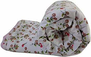 AVI Ultra Soft Printed Cotton AC Comforter/Dohar Double Bed-90x100 - RED Flower