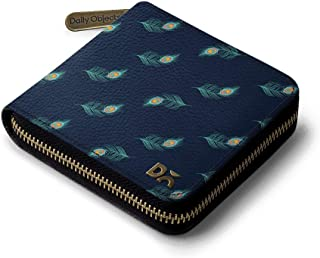 DailyObjects Navy Feathers Zip Wallet