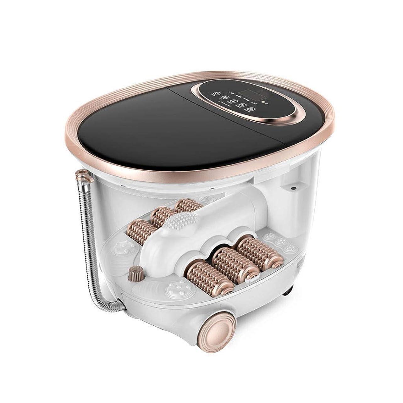 行う対応するまばたきJLL 電動タイジーマッサージ付きフットスパマッサージ-4プロセットプログラム-時間設定、サーフィン、暖房、自動マッサージ