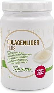 Naturlider Colagenlider- Colágeno hidrolizado con Magnesio. Acido Hialurónico y Vitamina C (180g)