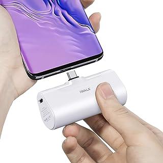 iWALK USB C Power Bank, 4 500 mAh bärbar laddare USB C batteripaket, kompatibel med Samsung Galaxy Note20 Ultra, Z Fold2, ...