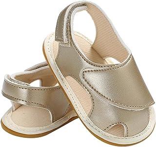 [Domybest] ベビーサンダル 女の子 キッズシューズ 幼児靴 滑り止め 歩く練習 赤ちゃん 柔らかい 可愛い 快適 ソフトボトム マジックテープ 出産お祝い 春 夏 人気