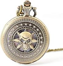 GaLon Quartz Pocket Horloge, Retro Skull Hoofd Poc...