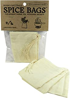 Regency Wraps RW950N Regency Natural Spice Bags 100% cotton set of 4, 3x4