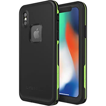 Lifeproof FRÉS SERIES funda impermeable para iPhone X (solamente) – Empaquetado al por menor, NIGHT LITE (BLACK/LIME)