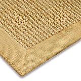 casa pura® Sisal Teppich aus Naturfasern mit Bordüre aus Baumwolle   pflegeleicht   Größe wählbar (Natur, 200 x 290 cm) - 2