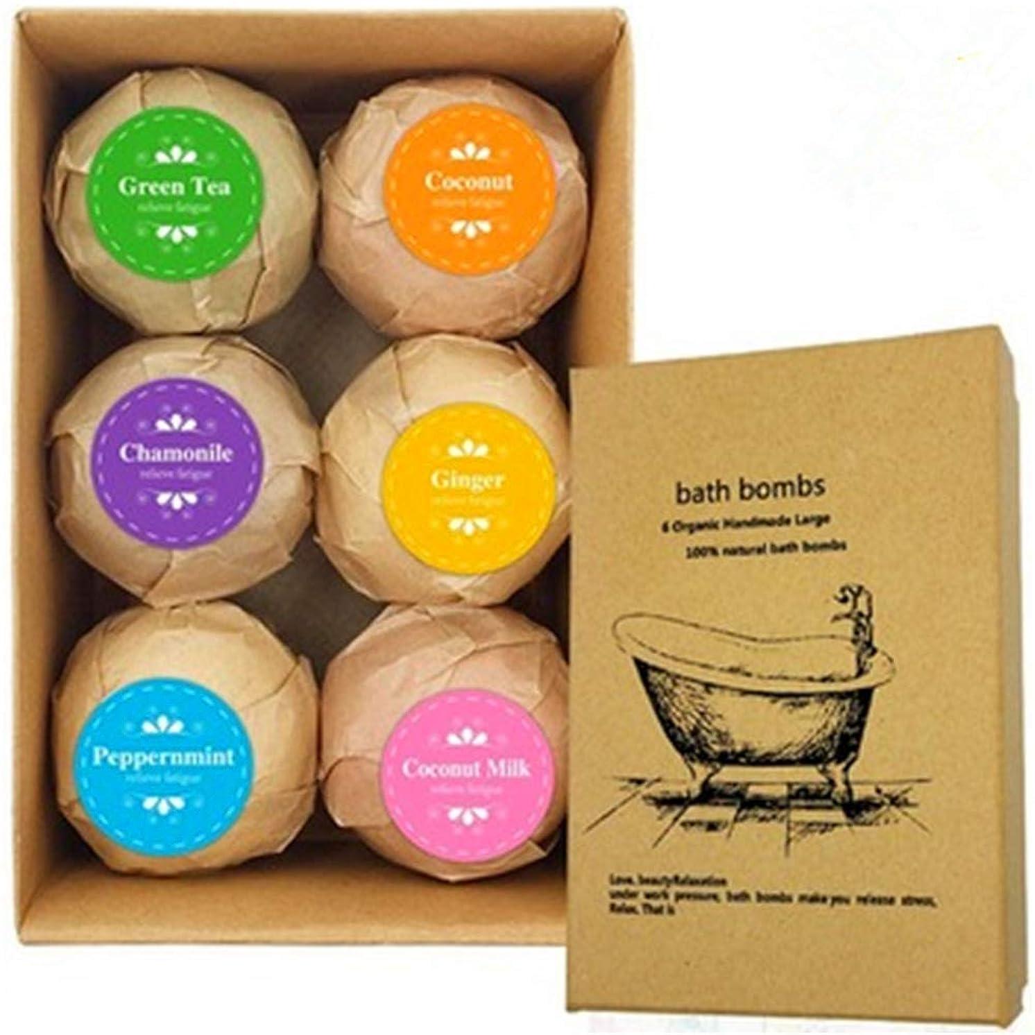 のど開発慢なバスボム 入浴剤 炭酸 バスボール 6つの香り 手作り 入浴料 うるおいプラス お風呂用 入浴剤 ギフトセット6枚 贈り物 プレゼント最適