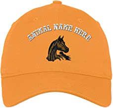 Custom Low Profile Soft Hat Arabian Horse Embroidery Animal Name Cotton Dad Hat