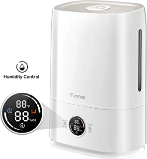 iTvanila Cool Mist Humidifier & Essential Oil Diffuser, 5L Automatic Humidity Keeping Humidifiers for Large Bedroom Baby, Whisper-Quiet Touch Operation (X3)