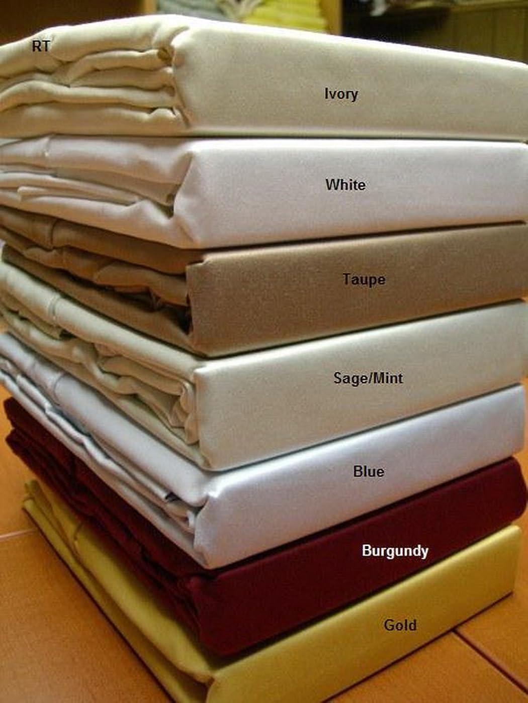 カニ一流タイルBlancho Bedding T600 キングサイズ 無地シーツセット エジプト綿100% キング パープル