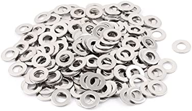 uxcell 200pcs 304 Stainless Steel M6 Plain Flat Washers Spacer Silver Tone