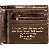 Personalized Mens Wallet for Father's Day Gift