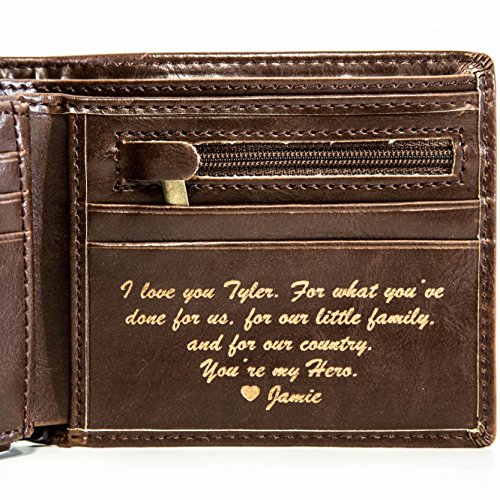 Personalized Mens Wallet - Leather Wallet, The Perfect Mens Gift, Boyfriend Gift, Father's Day Gift...