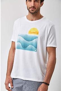 Camiseta Sol E Mar - Branco