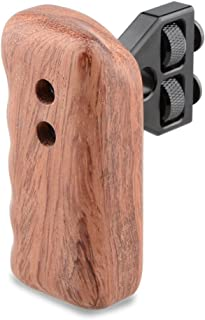 CAMVATE DSLR Wood Wooden Handle Grip Mount Support for DV Video Cage Rig (Left Hand)